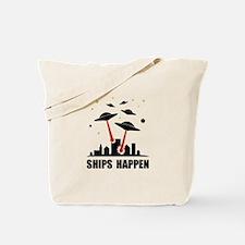 UFO Ships Happen Tote Bag