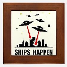 UFO Ships Happen Framed Tile