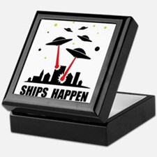 UFO Ships Happen Keepsake Box