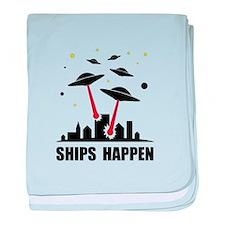 UFO Ships Happen baby blanket