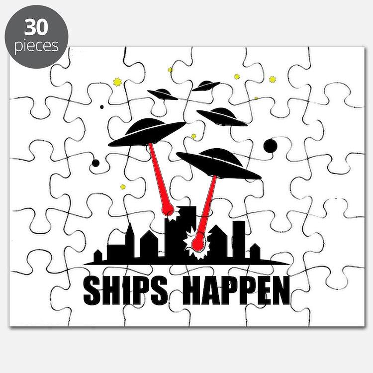 UFO Ships Happen Puzzle