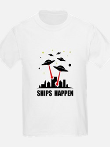 UFO Ships Happen T-Shirt