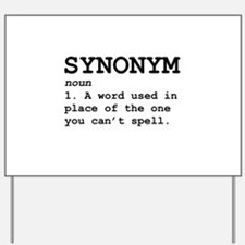 Synonym Definition Yard Sign