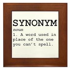 Synonym Definition Framed Tile