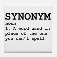 Synonym Definition Tile Coaster