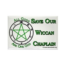Save Our Wiccan Chaplain Rectangle Magnet
