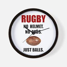 Rugby Balls Wall Clock