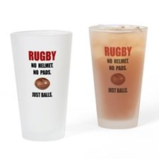 Rugby Balls Drinking Glass