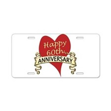 Funny 60th wedding anniversary Aluminum License Plate