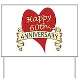60th wedding anniversary Yard Signs