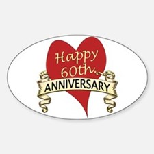 Funny 60th wedding anniversary Sticker (Oval)