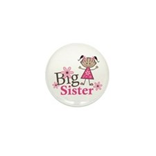 Ethnic Big Sister Mini Button (10 pack)