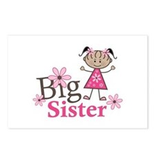 Ethnic Big Sister Postcards (Package of 8)