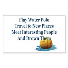 Reasons to Play Water Polo-Decal