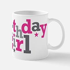 Pink Birthday Girl Star Small Small Mug