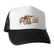 Gay Navy Trucker Hat