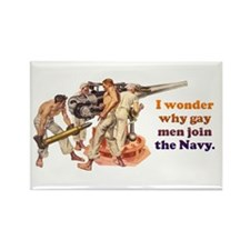 Gay Navy Rectangle Magnet