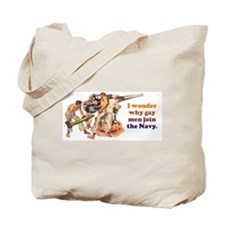 Gay Navy Tote Bag