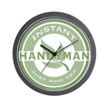 Instant Handyman Tea Wall Clock
