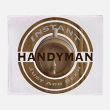 Instant Handyman Beer Throw Blanket