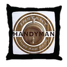 Instant Handyman Beer Throw Pillow