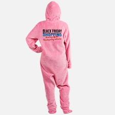 Black Friday - Thanksgiving Calorie Footed Pajamas