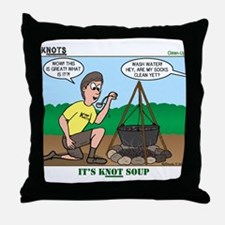 KNOTS Soup Throw Pillow