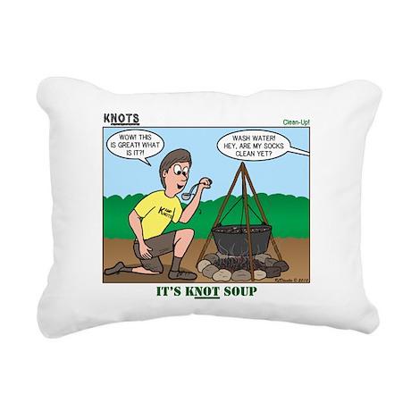 KNOTS Soup Rectangular Canvas Pillow