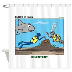 SCUBA Surprise Shower Curtain