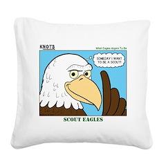 Scout Eagles Square Canvas Pillow