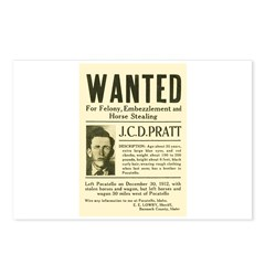 J. C. D. Pratt Wanted Postcards (Package of 8)