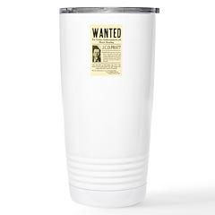 J. C. D. Pratt Wanted Stainless Steel Travel Mug