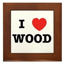 I Heart Wood Framed Tile