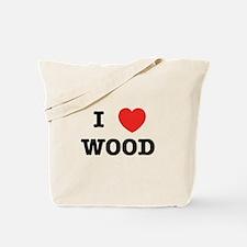 I Heart Wood Tote Bag