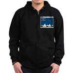 Flying High Zip Hoodie (dark)