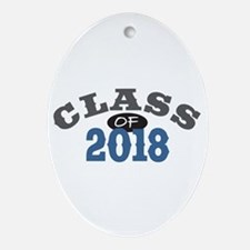 Class of 2018 Ornament (Oval)