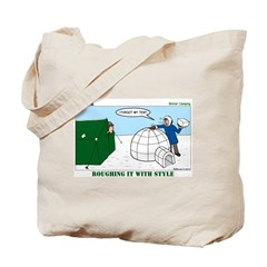 Winter Camping Tote Bag