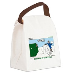 Winter Camping Canvas Lunch Bag