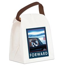 Forward with Bo, the first dog. Canvas Lunch Bag