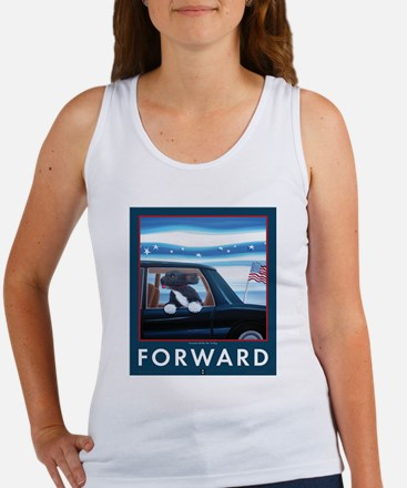 Forward with Bo, the first dog. Women's Tank Top