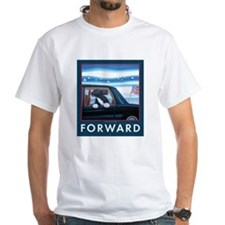 Forward with Bo, the first dog. Shirt