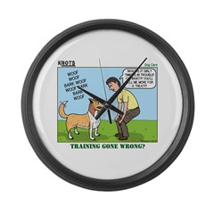 Dog Care Large Wall Clock