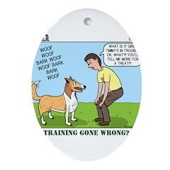 Dog Care Ornament (Oval)