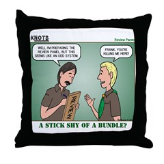 KNOTS Review Board Throw Pillow