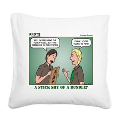 KNOTS Review Board Square Canvas Pillow