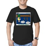 Hanging Around with Bats Men's Fitted T-Shirt (dar