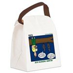 Hanging Around with Bats Canvas Lunch Bag