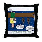 Hanging Around with Bats Throw Pillow