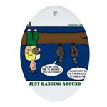 Hanging Around with Bats Ornament (Oval)