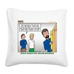 Home Repair Square Canvas Pillow